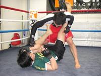 MMA選手練習